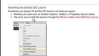 Lesson 04 The Integrated Development Environment - VB Net - Sahalsoftware - Afsomali