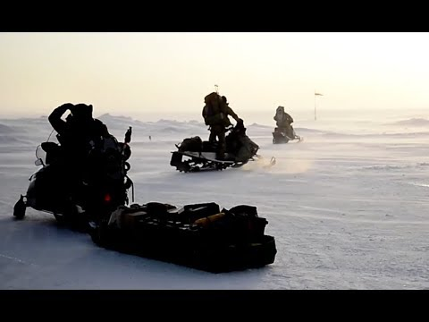U.S. Special Forces deploy in Snowmobiles for EXTREME COLD-WEATHER training, Alaska