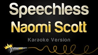 Naomi Scott   Speechless (karaoke Version)