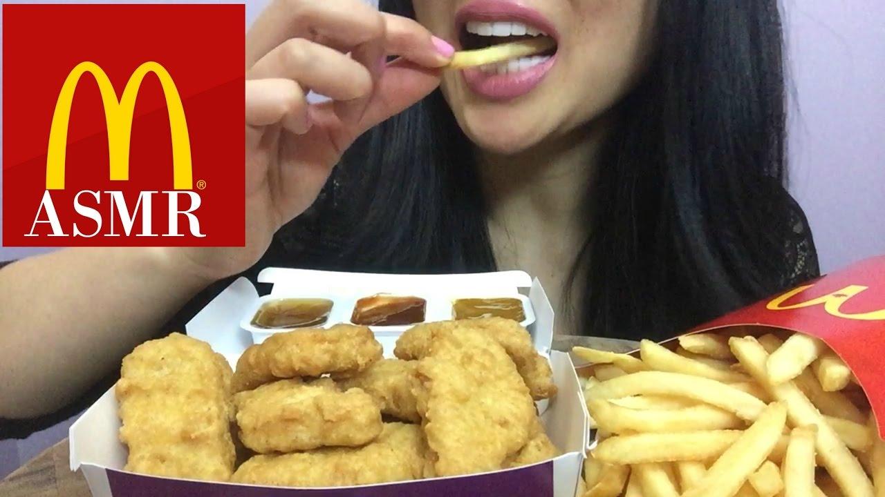 Asmr Mcdonalds Chicken Nuggets Eating Sound Sas Asmr