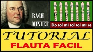 """Bach - Minueto en Flauta """"Con Notas Explicadas"""""""