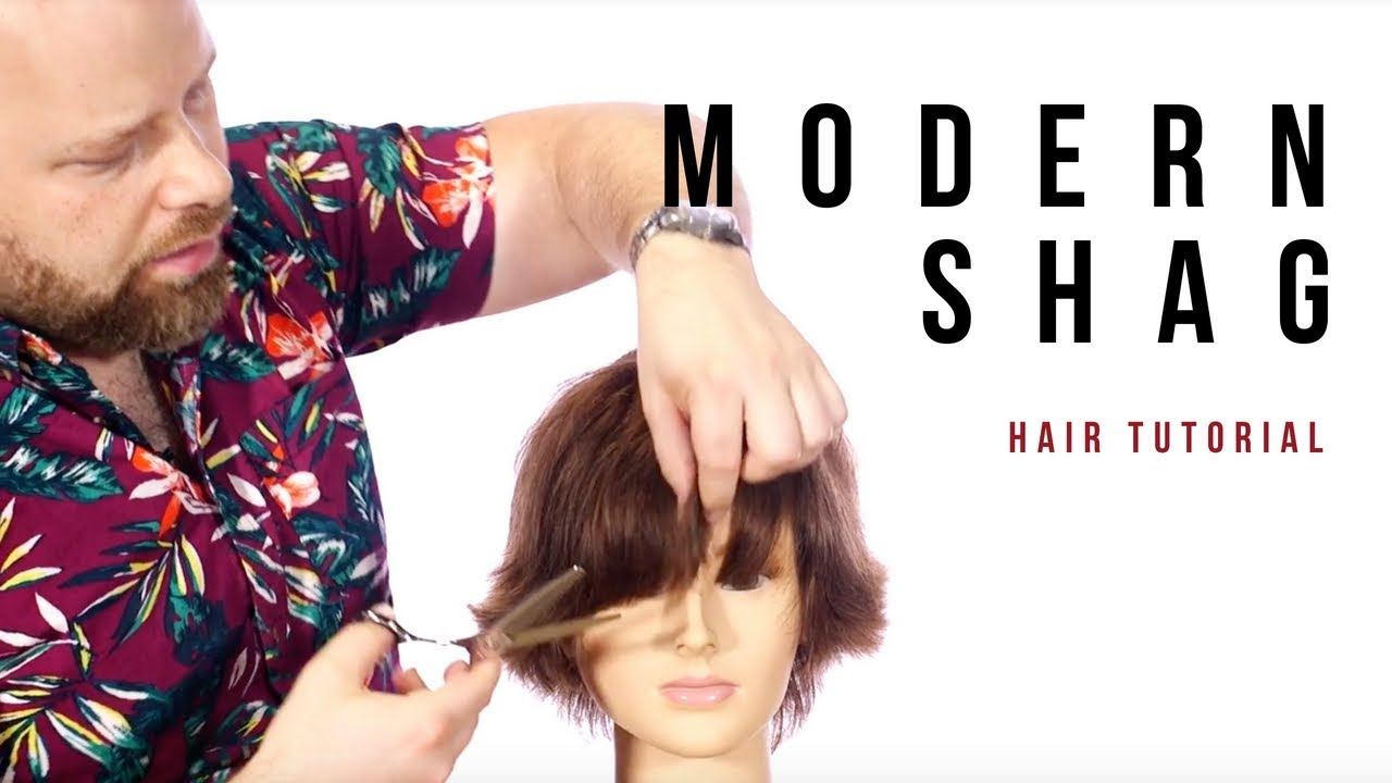 Modern Shag Haircut Tutorial Thesalonguy Youtube