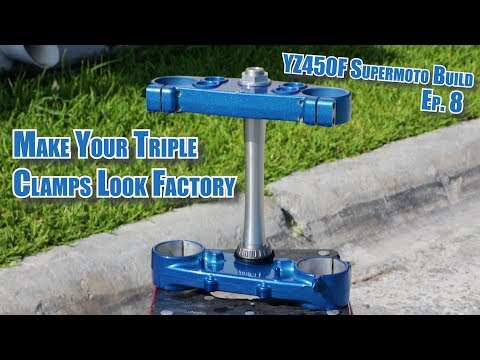 YZ450F Supermoto Build: Making Triple Clamps Look Factory! Amazing Results! 20K Giveaway Ep. 8