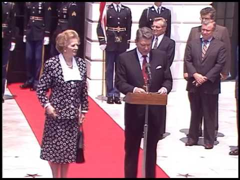 President Reagan Meeting with Prime Minister Margaret Thatcher of United Kingdom, July 17, 1987