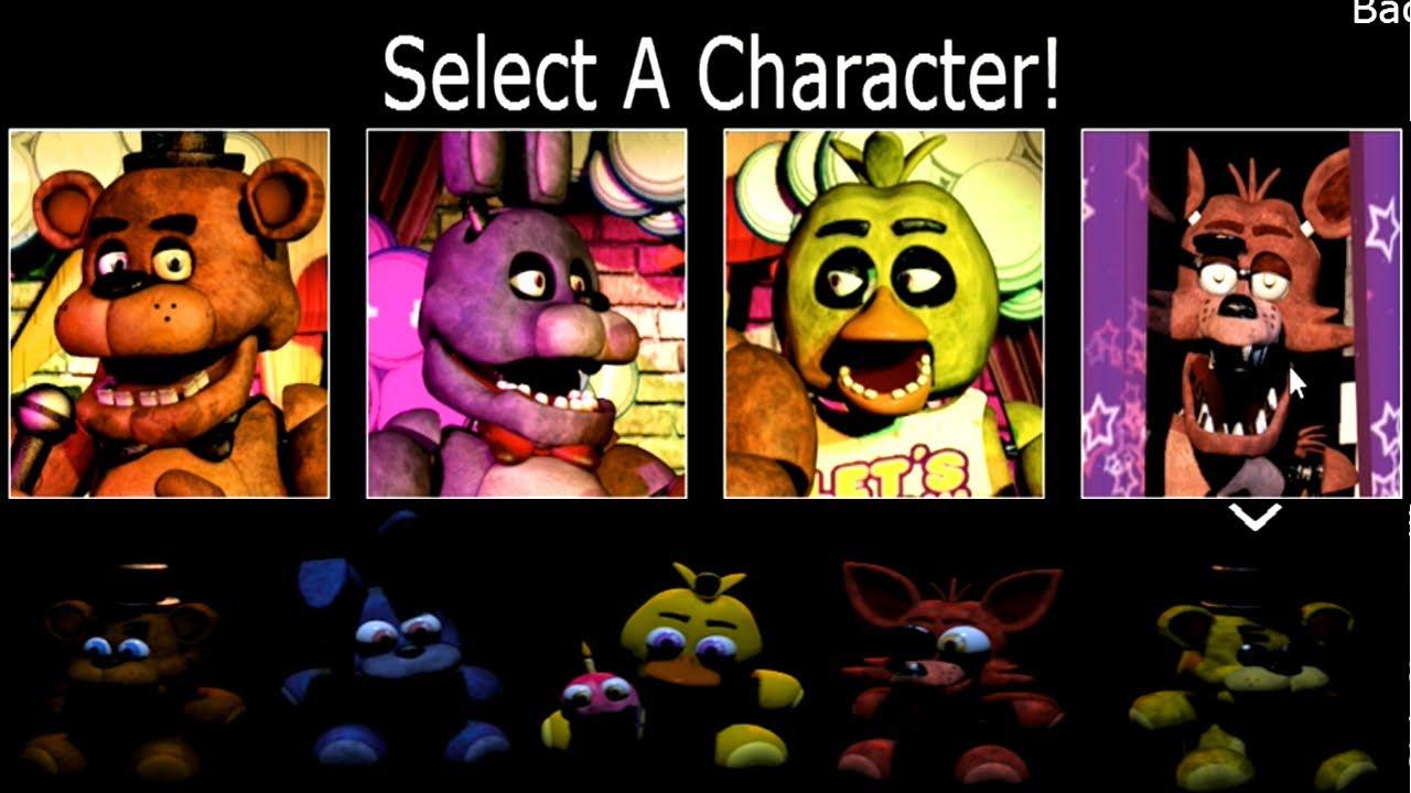 fnaf lets play all animatronics amp plushies fnaf 1