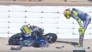 THE DOCTOR VALENTINO ROSSI ♥️ VR46 CRASH 😱