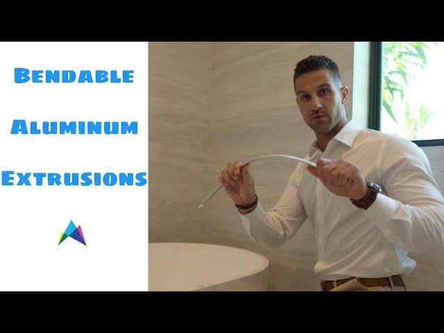 Bendable Aluminum Extrusion for LED tape - GM Lighting LED-CHL-BND - Slater Lighting