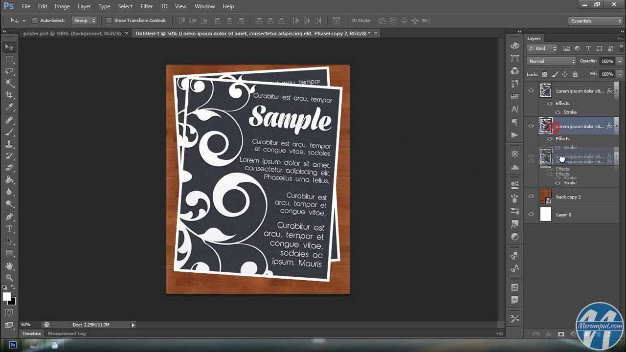 Tutorial Photoshop Membuat Poster - YouTube