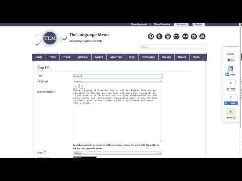 Gap Fill Tool (for educators)