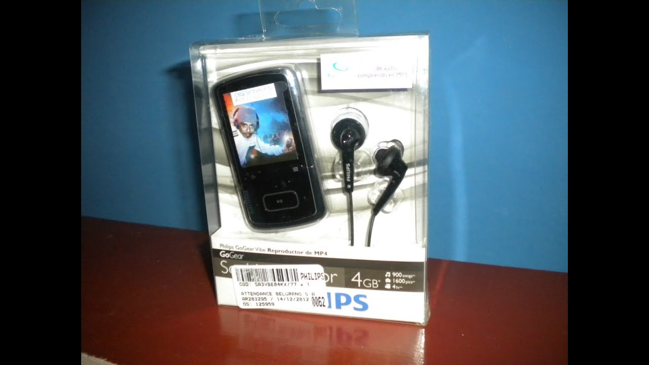 Philips GoGear Vibe MP4 unbox and review YouTube