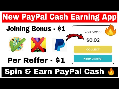 New PayPal Cash Earning App 🔥  Joining - $1   Refer - $1   Spin & Earn  PayPal Cash   Qriket App
