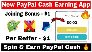 New PayPal Cash Earning App 🔥| Joining - $1 | Refer - $1 | Spin & Earn PayPal Cash | Qriket App