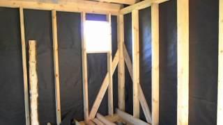 Строительство каркасного дома из бруса с эркером.(Пример дачи с эркером в Переславль-Залесском Ярославской области. поселок Лунино