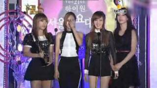 120119 21st High1 Seoul Music Awards- miss A recieved the 8th Bonsang Award + Speech