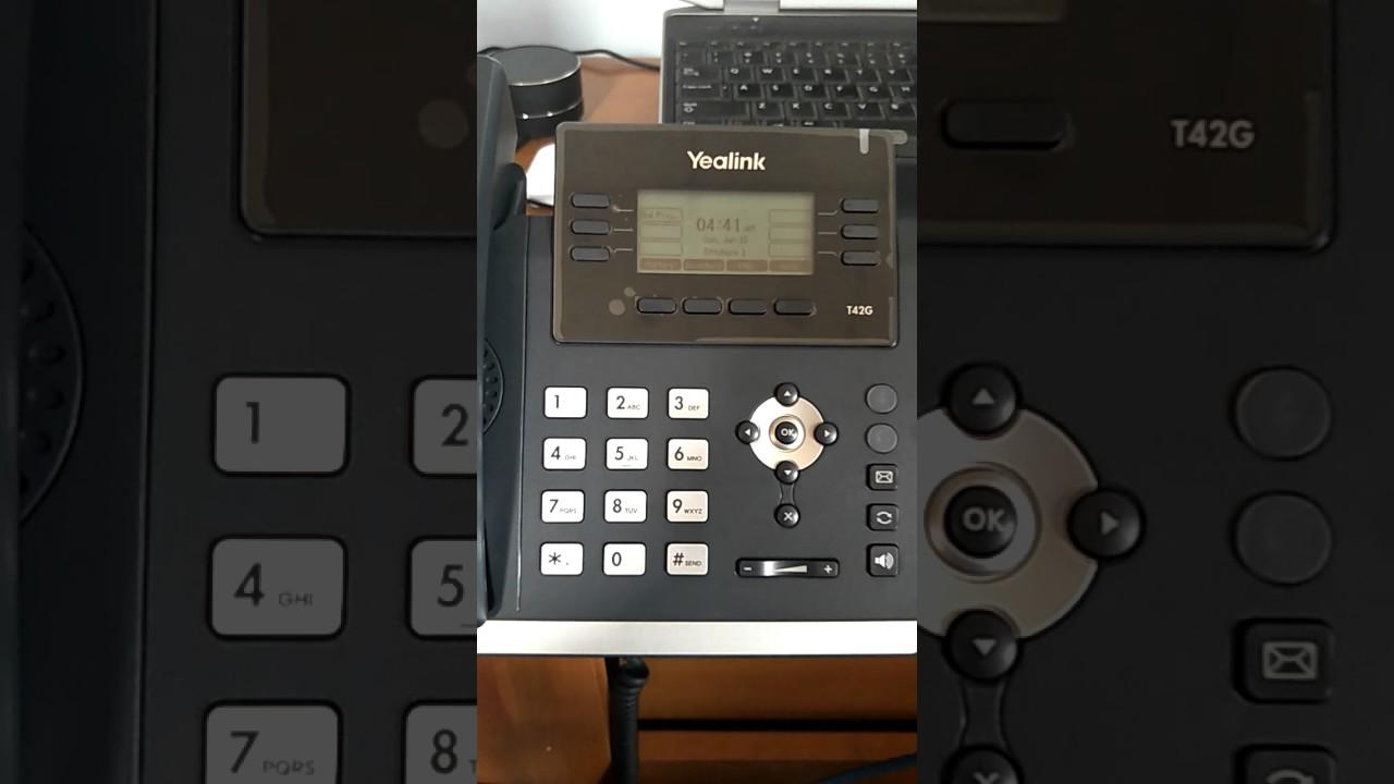 How to check IP address of Yealink handset