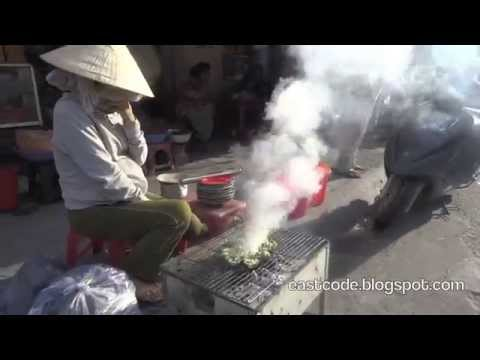 Lam SÒ NƯỚNG MỠ HÀNH Vietnamese grilled oysters with onion Thap Ba street food technique  Nha