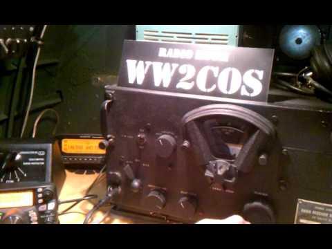 """Tuning around on the BC-348 HF Receiver on board the B-17 bomber """"City of Savannah"""""""