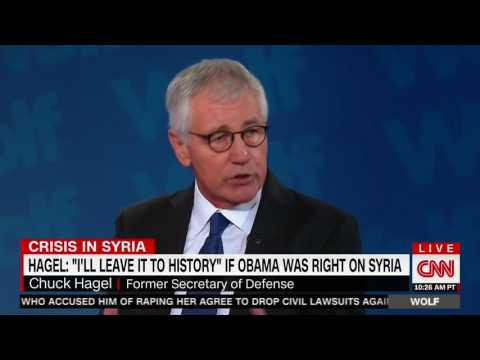 Former Sec. of Defense Hagel: History Will Decide If Obama Was Right On Syria