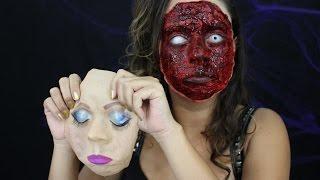 ROSTO TODO ARRANCADO - Tutorial de Maquiagem Artística por Karen Lima