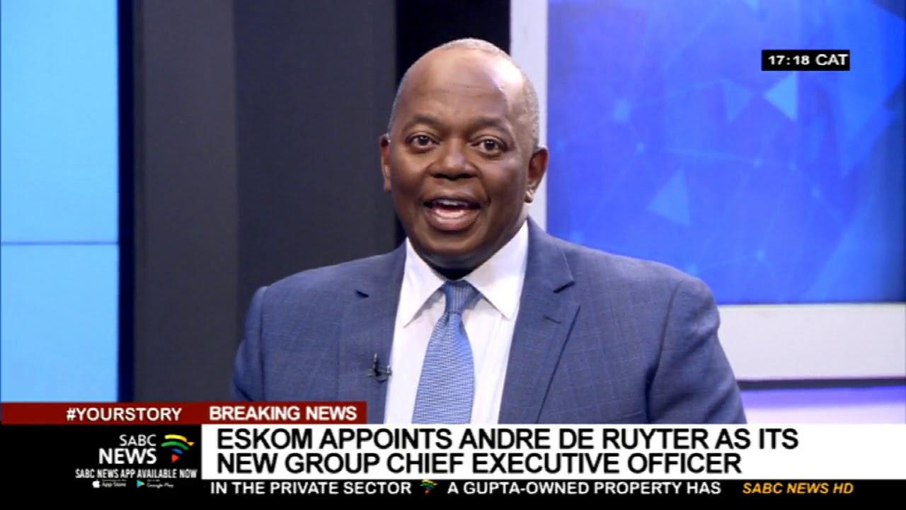 BREAKING NEWS | Eskom appoints Andre de Ruyter as GCEO