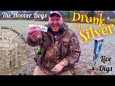 Metal Detecting Hunt of a lifetime #109 Drunk on Silver
