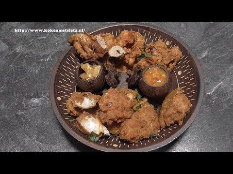 Pakora van Kuit & Kabeljauw (snack)