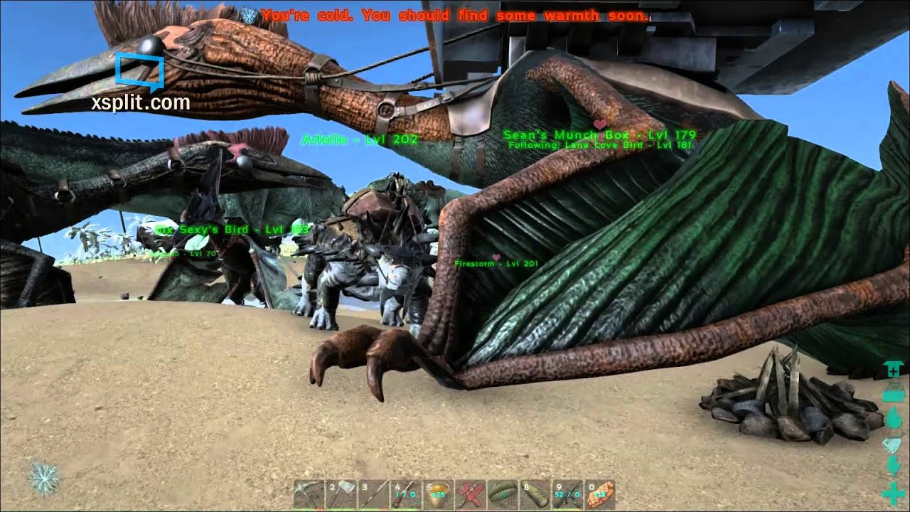 ARK: Survival Evolved breeding hatching and Raising 4 extremely high level  Baby Quetzals