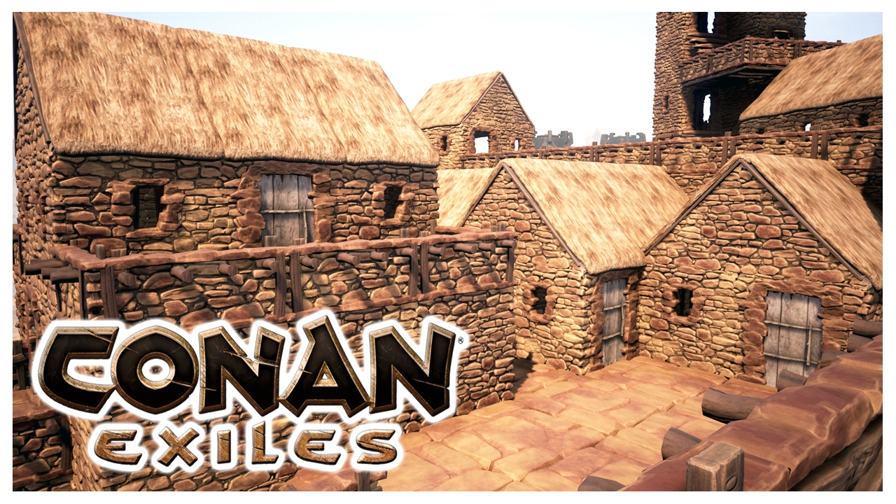 Conan Exiles Building The Village Youtube