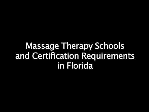 Requirements for Massage Therapy School in Florida