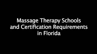 Requirements Age Therapy School Florida