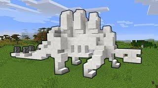 сКЕЛЕТ ДИНОЗАВРА В МАЙНКРАФТ!  - Строим вместе - Майнкрафт - Minecraft
