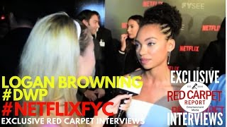 Logan Browning #DWP interviewed at Netflix's FYSee Space kick-off party #NetflixFYSee