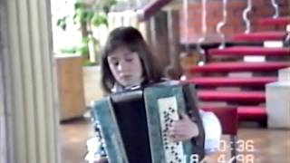 Iryna Serotyuk performs on bayan at Bayan-Accordion competition at the age of 10 (1998)