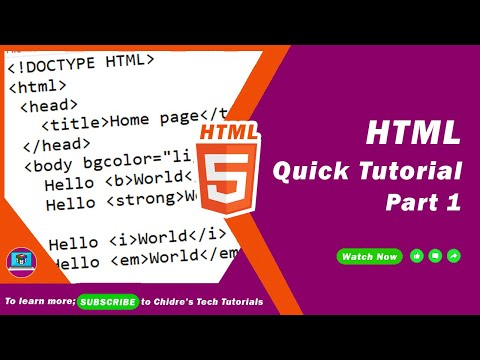 Learn All HTML Tags In 2 Hours | Complete HTML | Hour 1 | HTML Quick Reference
