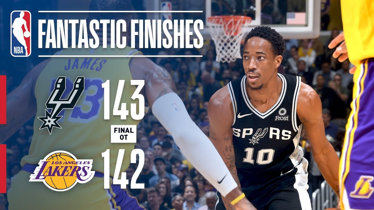 f4fe07d67 The Spurs And Lakers Go All The Way Down To The Wire In OT