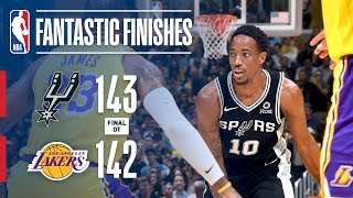 The Spurs And Lakers Go All The Way Down To The Wire In OT | October 22, 2018