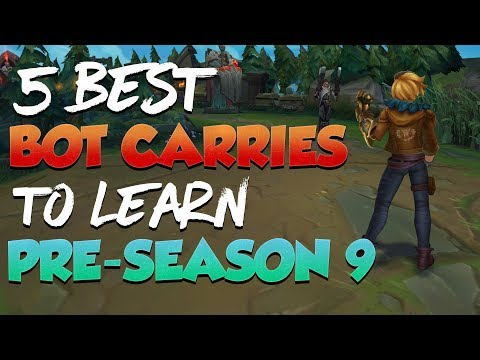 5 Best Bot Lane Carry Champions You SHOULD LEARN During Pre-Season 9 - League of Legends