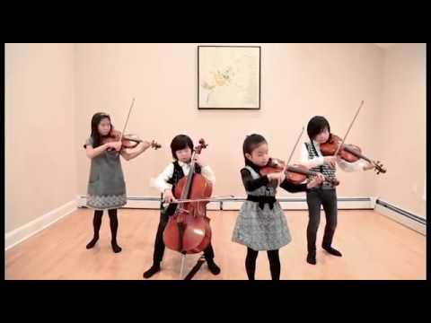 Pint-Sized String Quartet performs Bach Violin Concerto