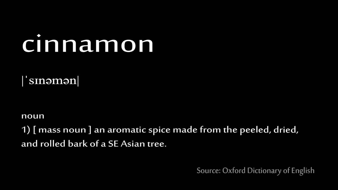 How to pronounce - cinnamon