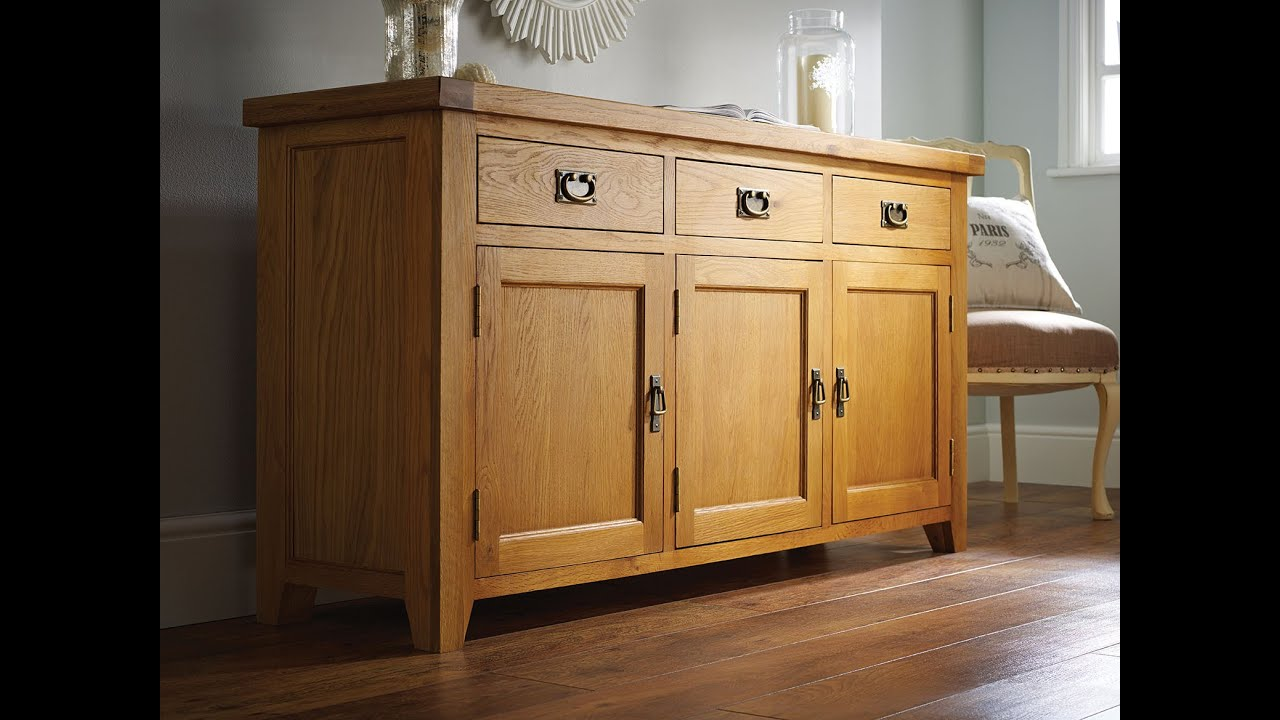 Farmhouse Country Oak Large Oak Sideboard