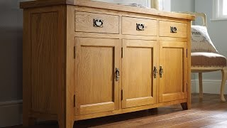 Farmhouse Country Oak Large Oak Sideboard - Just 399