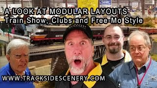 A look at train show Free-mo and club modular model railroad layouts
