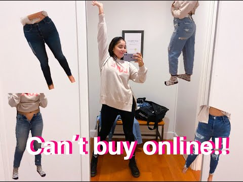 THE ONLY AMERICAN EAGLE WITH THESE JEANS IN THE WORLD (TRY ON)