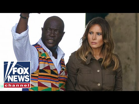First Lady Melania Trump tours historic sites in Ghana