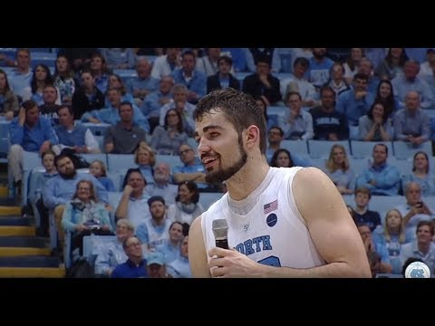 UNC Men's Basketball: Luke Maye's Senior Night Speech