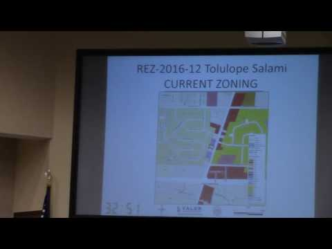6.a. REZ-2016-12 Salami, 3320 Bemiss Rd, R-21 to C-G, Comm. Water & Sewer