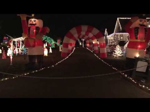 Happyland Christmas Lights, Raleigh NC