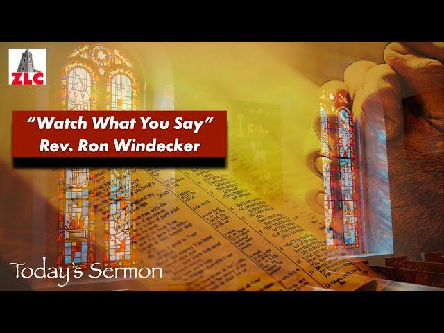 Sermon - 20210912 - Pastor Ron