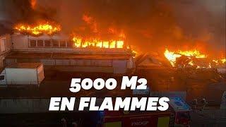 Un incendie impressionnant ravage des entrepôts à Aubervilliers