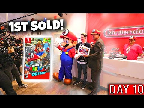 I WAITED 10 DAYS TO BE FIRST TO BUY SUPER MARIO ODYSSEY FROM REGGIE!!